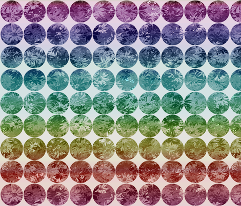 Daisy dots in rainbow ombre fabric by wren_leyland on Spoonflower - custom fabric