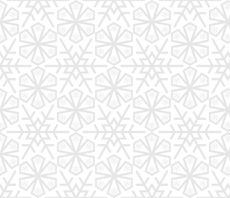 snowflake 10 tessellation fabric by sef on Spoonflower - custom fabric