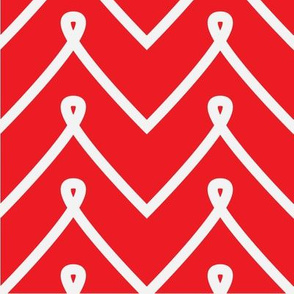 Red Curly Chevron Pattern