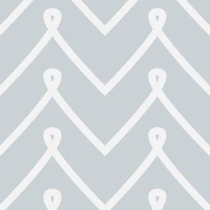 Silver Curly Chevron Pattern