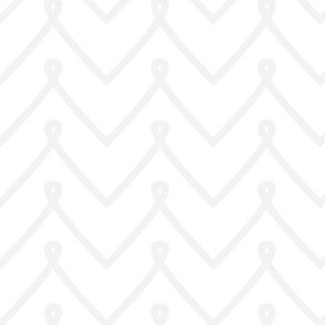 White Curly Chevron Pattern