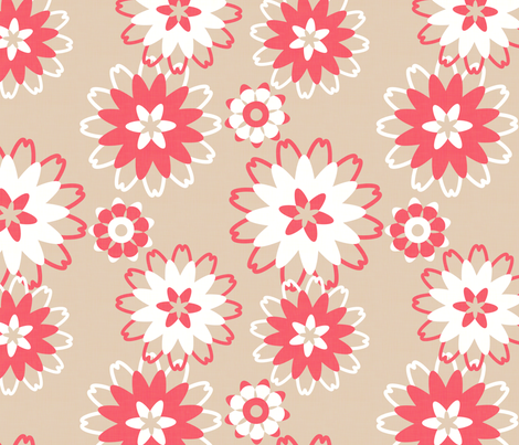 Midsummer Floral fabric by hugandkiss on Spoonflower - custom fabric