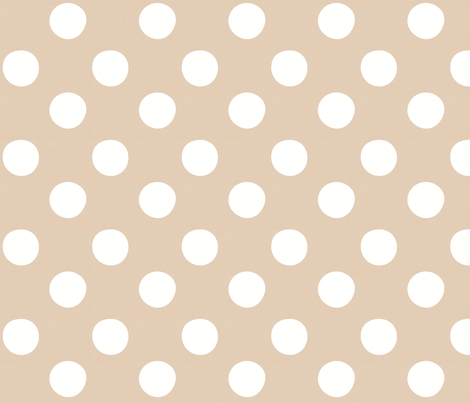 Midsummer Dots Beige fabric by hugandkiss on Spoonflower - custom fabric