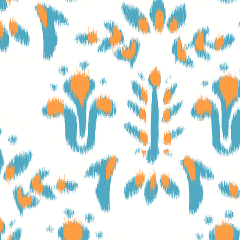 Summer Faux Ikat fabric by hugandkiss on Spoonflower - custom fabric