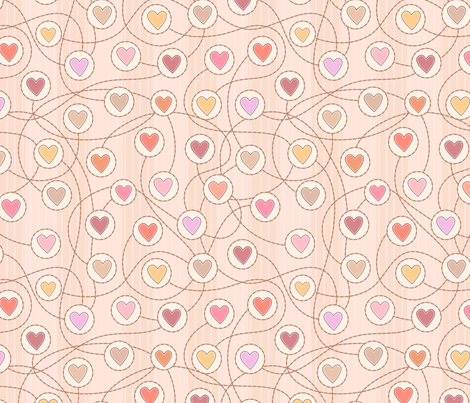 Heart to heart fabric by stewsha on Spoonflower - custom fabric