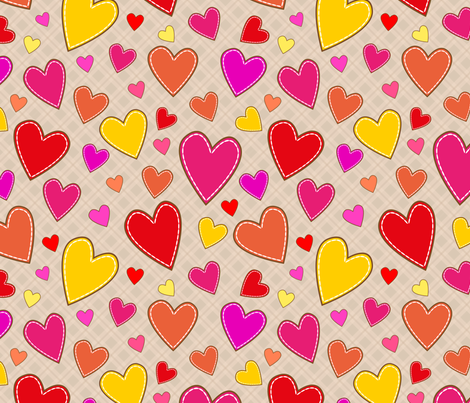 hearts_all fabric by stewsha on Spoonflower - custom fabric