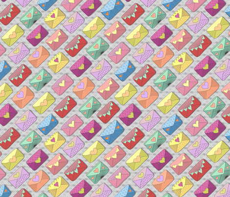 hearts_on_grey fabric by stewsha on Spoonflower - custom fabric