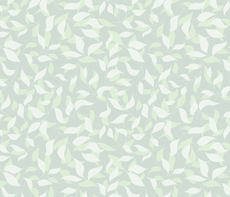 Light green leaves fabric by stewsha on Spoonflower - custom fabric