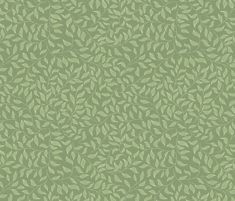 Green striped leaves fabric by stewsha on Spoonflower - custom fabric