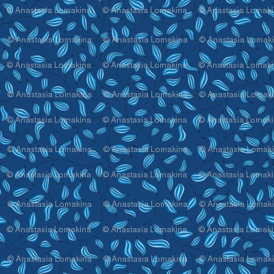 Bright and striped blue leaves