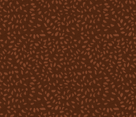 Brown striped leaves fabric by stewsha on Spoonflower - custom fabric