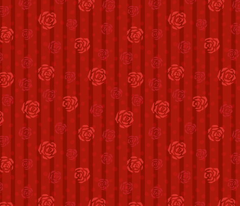 Red roses fabric by stewsha on Spoonflower - custom fabric