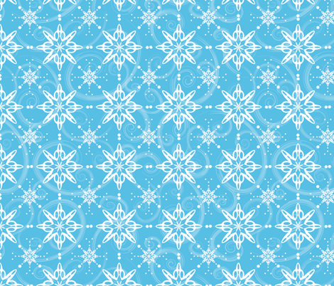 Snow Flurries fabric by jjtrends on Spoonflower - custom fabric