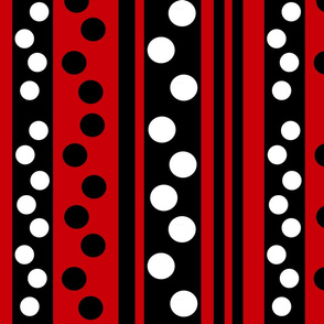 stripes-dots-on-red-back ground