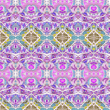 Zig Zag Little Girl Hearts and Flower Stuff Horizontal Stripe fabric by edsel2084 on Spoonflower - custom fabric