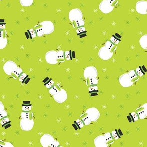 Festive Snowmen (Light Green)