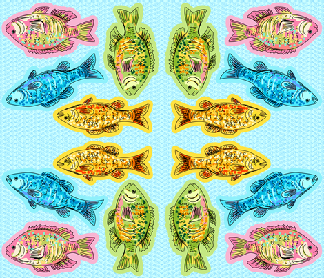 Cut and Sew Fish Plushie Pillows fabric by diane555 on Spoonflower - custom fabric