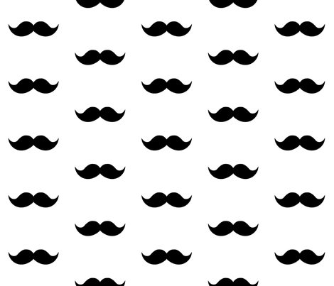 black mustaches fabric by tupelo_honey_fabrics on Spoonflower - custom fabric