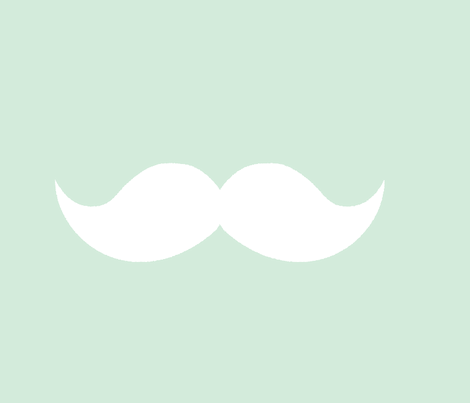 mint mustaches fabric by tupelo_honey_fabrics on Spoonflower - custom fabric
