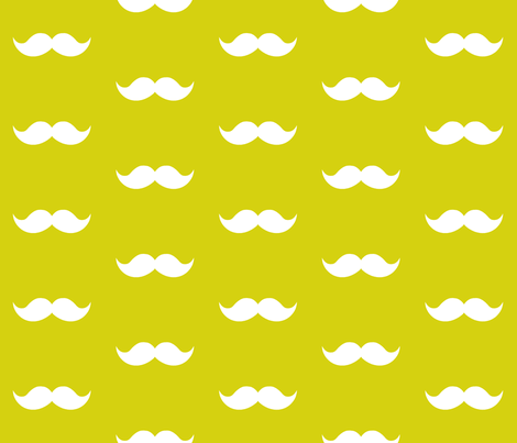 lime mustaches fabric by tupelo_honey_fabrics on Spoonflower - custom fabric