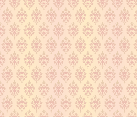 Damask Wallpaper Design fabric by diane555 on Spoonflower - custom fabric