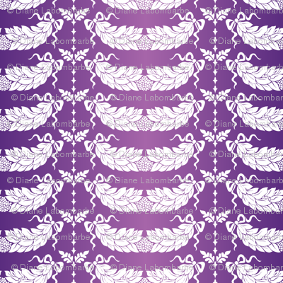 Purple and White Damask Design