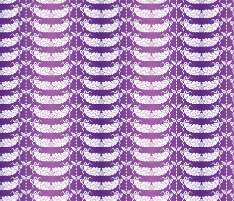 Purple and White Damask Design fabric by diane555 on Spoonflower - custom fabric