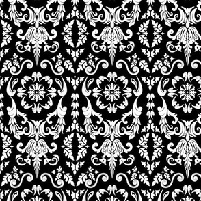 Black and White Damask Design