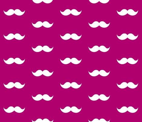 berry mustaches fabric by tupelo_honey_fabrics on Spoonflower - custom fabric