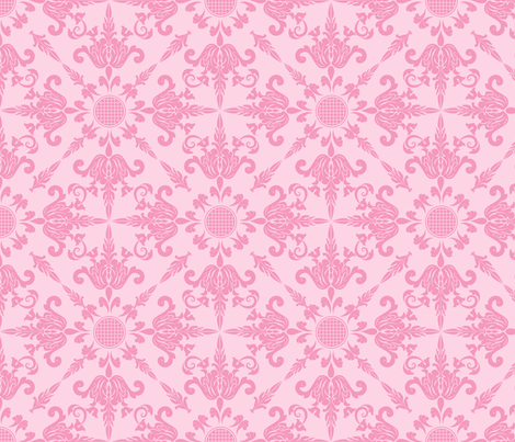 Pretty Pink Damask Design fabric by diane555 on Spoonflower - custom fabric
