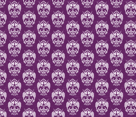 Damask Style Purple Grapes fabric by diane555 on Spoonflower - custom fabric