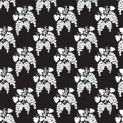 Small Damask Style Black & White  Grapes