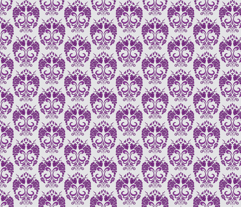 Small Damask Style Purple Grapes fabric by diane555 on Spoonflower - custom fabric