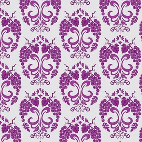 Small Damask Style Purple Grapes