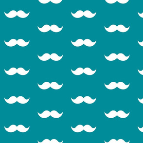 teal mustaches