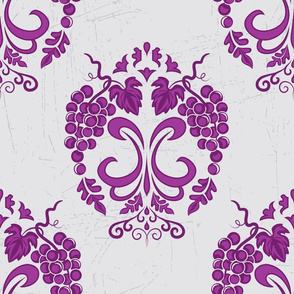 Damask Style Purple Grapes