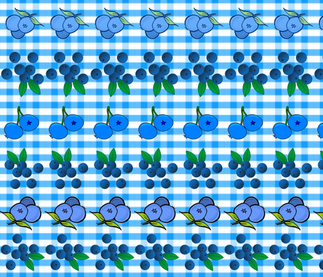 BLUEBERRY GINGHAM fabric by bluevelvet on Spoonflower - custom fabric