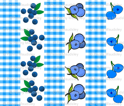 BLUEBERRY GINGHAM STRIPES
