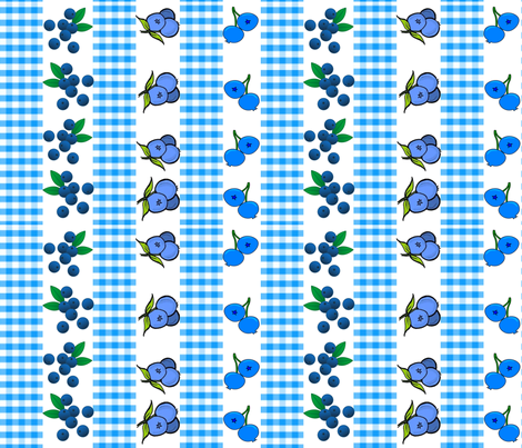 BLUEBERRY GINGHAM STRIPES fabric by bluevelvet on Spoonflower - custom fabric