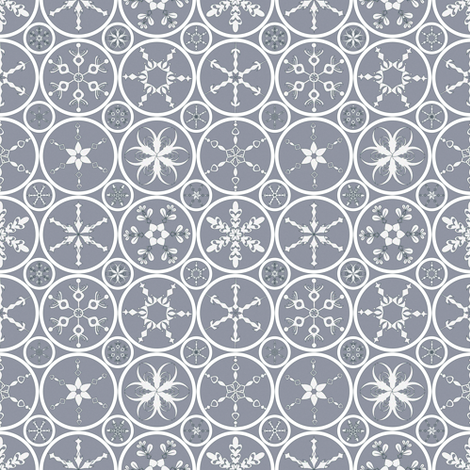 Purple-Snowflake fabric by mag-o on Spoonflower - custom fabric