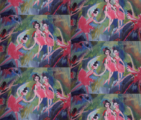 Small river ballet fabric by myartself on Spoonflower - custom fabric