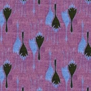Cranes- plum, lavender, charcoal
