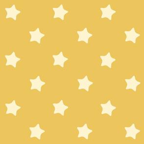 Etoiles fond jaune Retro kawaii vintage