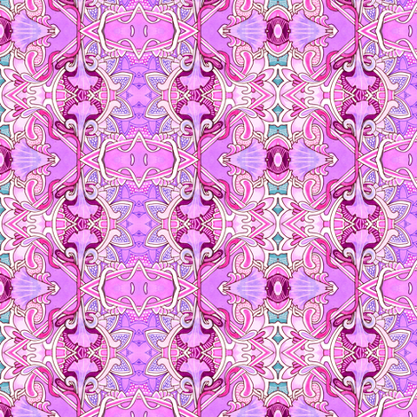 Petunias in Dreamland fabric by edsel2084 on Spoonflower - custom fabric