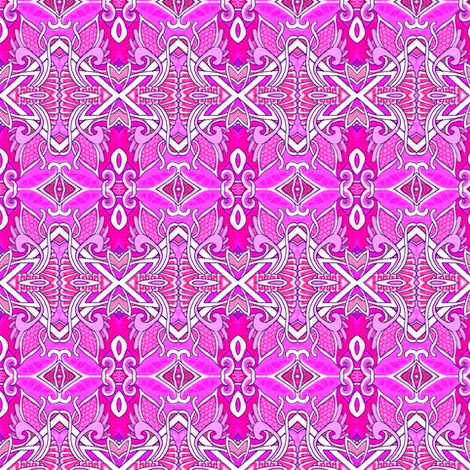 DecoRated in Pink fabric by edsel2084 on Spoonflower - custom fabric