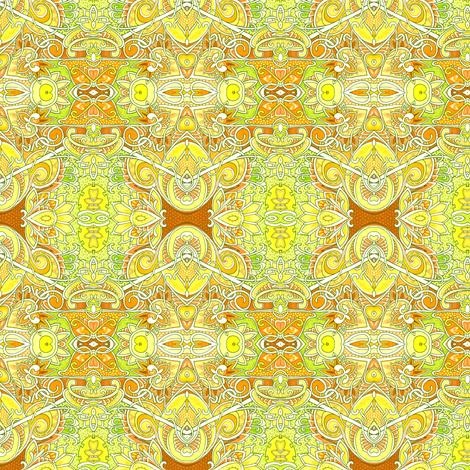Sunshine Honeycomb  fabric by edsel2084 on Spoonflower - custom fabric
