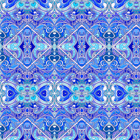 For Love of Delft fabric by edsel2084 on Spoonflower - custom fabric