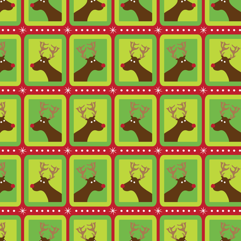 Festive Reindeer fabric by robyriker on Spoonflower - custom fabric