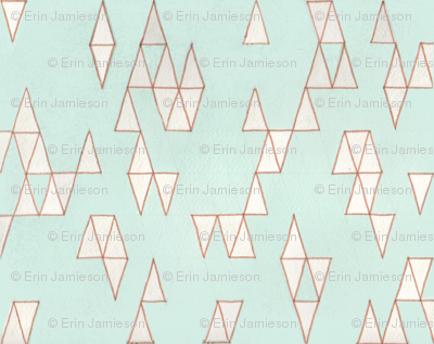 Retro Mint Triangles