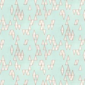 Retro Mint Triangles